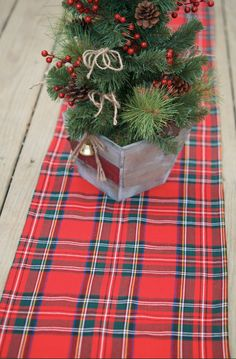 Bring A Little Scottish Cheer To Your Home With This Bright Tartan Table  Runner. Handmade By GreenwoodStore.