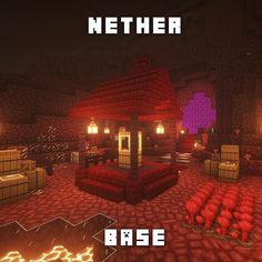 minecraft nether base ideas / minecraft nether base + minecraft nether base ideas + minecraft nether base design + minecraft base in nether + minecraft nether portal base Minecraft Structures, Easy Minecraft Houses, Minecraft Room, Minecraft Plans, Minecraft House Designs, Amazing Minecraft, Minecraft Blueprints, Minecraft Creations, Minecraft Crafts