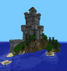 Island Keep Minecraft Portal, Minecraft House Plans, Minecraft Kingdom, Minecraft Building Guide, Minecraft Houses Survival, Minecraft Castle, Minecraft Medieval, Minecraft Tips, Amazing Minecraft