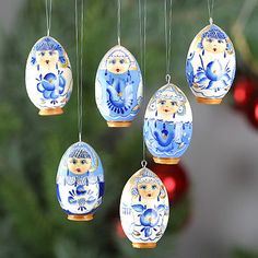 what better way to decorate a traditional christmas tree than with these simple yet charming russian wooden ornaments