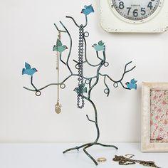 https://www.sassandbelle.co.uk/Bird Branch Jewellery Holder - Teal