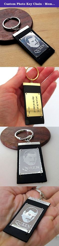 Custom Photo Key Chain - Memorial Keychain - Picture Engraved Gift - Men's Accessoire. One-of-a-kind accessory, a memorial keychain. The men's keychain is made of quality leather and metal. Its metal part can be engraved with a custom picture. Be sure, the engraving won't wear away or change the color, as it's not a print but quality engraving. This could become a memorial photo-accessory to save the memory of somebody you love. Send me a photo after ordering or contact me before, please....