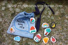 "Cuentacuentos con piedras: ""Había una vez..."" Kanken Backpack, Lunch Box, Diy, Children, How To Make, Rocks, To Tell, Kid Games, Hand Painted Rocks"