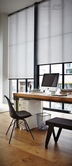 Wonderful Useful Ideas: Blinds For Windows Office blinds for windows with oak trim. Living Room Blinds, House Blinds, Cortina Roller, Modern Roller Blinds, Black Roller Blinds, Black Blinds, Window Roller Shades, Black Window Trims, Office Blinds
