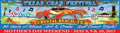 Texas Crab Festival early May Crystal Beach TX