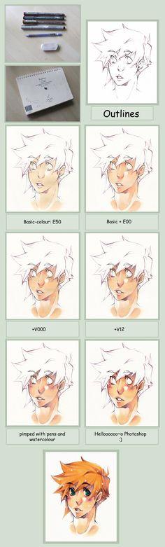 Copic Skin Tutorial by ~XMenouX