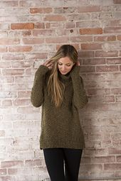 Ravelry: Smithfield Pullover FREE pattern by Amy Christoffers - easy to knit top down pullover w/ turtleneck, rib details and allover texture (hva)