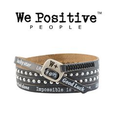 Bracciale We Positive Black Collezione Holiday Pelle HD020
