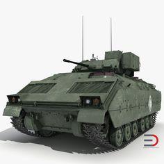 Bradley M2 Green tank 3d model