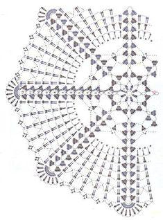 Mail Tiscali Crochet Doily Diagram, Crochet Doily Patterns, Filet Crochet, Crochet Motif, Crochet Doilies, Crochet Lamp, Crochet Tablecloth, Thread Crochet, Crochet Stitches
