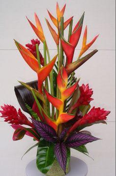 Tropical flower centre piece