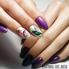 Nail Ink, Nail Manicure, Diy Nails, Fall Nail Art, Autumn Nails, Nail Art Diy, Bird Nail Art, Animal Nail Art, Pretty Nail Designs