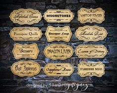 Harry Potter Printable Potion Ingredient Labels, Magic Potion Ingredient Labels