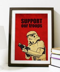 Star Wars  Support Our Troops A3 Poster Vintage by Posterinspired, $18.00