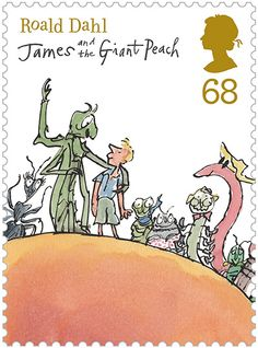 Roald Dahl Stamps (illustrations by Quentin Blake) Roald Dahl Stories, Quentin Blake Illustrations, Book Illustrations, Chris Riddell, Charley Harper, James And Giant Peach, Royal Mail Stamps, Carson Ellis, Libros Pop-up