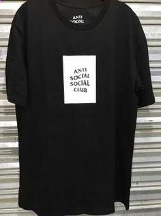 Anti Social Social Club ASSC Black White Tee