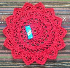 #Crochet doily rugs with t-shirt yarn   Crochet in Paternoster using pattern from Creative Jewish Mom