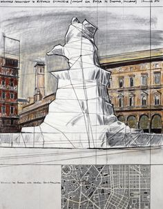 christo jeanne claude drawings - Google Search