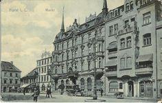 Forst Lausitz, Markt, Nordseite, Hotel Pittius, Mohrs Hotel, um 1910