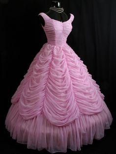 Vintage 1950's Pink Gown by VintageVortex