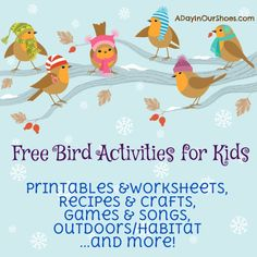 Backyard Bird Activities For Kids~feeders, Crafts, Printables And More