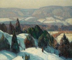 Winter Landscape, Mountain Landscape, Landscape Art, Landscape Paintings, Impressionist Landscape, Impressionist Paintings, Painting Snow, Winter Painting, Winter Art