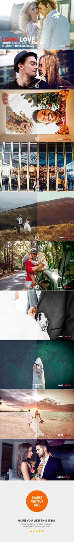 10 Lomo Love Lightroom Presets by InstaFlare 10 Lomo Love Lightroom Presets10 Lomo Love Lightroom Presets are excellent for photographers, graphic designers and fashion blogg
