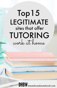 Top 15 Legitimate Sites That Offer Online Tutoring Jobs