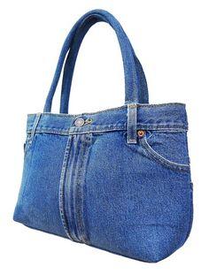 Denim gift bag by touchofdenim on etsy – Artofit Denim Purse, Blue Denim Jeans, Blue Jean Purses, Navy Blue Shoes, Denim Crafts, Recycled Denim, Fabric Bags, Pants For Women, Ideas