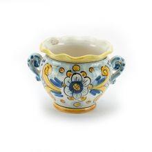 Portavaso ceramica con manici piccolo