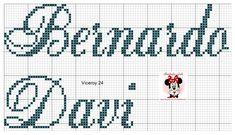 Bernardo, Cross Stitch, Cross Stitch Love, Cross Stitch Baby, Cross Stitch Alphabet, Cross Stitch Samplers, Bed Covers, Punto Cruz, Names