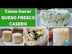 En este post te enseño cómo hacer el queso fresco casero. Lo puedes hacer con jugo de limón o con vinagre. Es muy rico y muy fácil de hacer. Queso Fresco Recipe, Amish Friendship Bread, Health Diet, Side Dishes, Healthy Recipes, Cheese, Snacks, Youtube, Yahoo Search