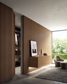 New wall paneling from Moderne Living reinvents the very concept of wall cladding, in a more amplified and contemporary way. Wall Cladding Interior, Wood Cladding, Interior Walls, Home Interior Design, Interior Architecture, Interior Lighting, Interior Plants, Hidden Doors In Walls, New Wall