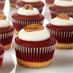 Creamy cheesecake and moist red velvet cake.