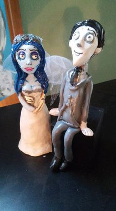 The Corpse Bride Emily and Victor Cake by AntonisArtAsylum on Etsy
