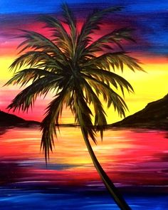 Sunset Palm