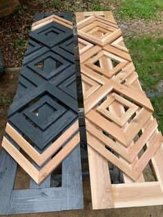 Designer-Inspired DIY Custom Shutters - DIY Wood Projects Want designer shutters without the designer-cost? Check out this tutorial and get inspired to go beyond basic and create your own DIY custom shutters! Custom Shutters, Diy Shutters, Exterior Shutters, House Shutters, Exterior House Colors, Diy Holz, Woodworking Plans, Woodworking Crafts, Woodworking Equipment