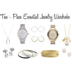 10 - Piece Essential Jewelry Wardrobe, created by bluehydrangea on Polyvore