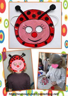 Masque coccinelle réalisé par Lison, masque à imprimer sur mon blog
