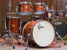 Gretsch USA Standard in Burnt Orange Gloss - Drums - Cymbals - Percussion - The UK finest online percussion store - Drumshop UK Gretsch Drums, Drum Music, How To Play Drums, Drum Sets, Percussion, Burnt Orange, Musical Instruments, Colour, Usa