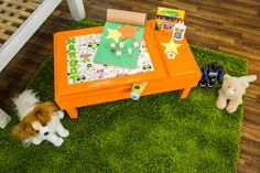 Keep your child's artwork in one place with this DIY Toddler Floor Art Desk…