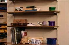 How to Choose Shelves and Brackets Storage Cabinets, Storage Shelves, Invisible Shelves, Kitchen Work Station, Clean Garage, Shelf Supports, Shelf Brackets, Garage Organization, Home Improvement Projects