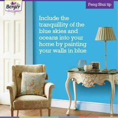 Feng Shui Tips For Home, Feng Shui Colours, Ocean, Sky, Display, Blue, Color, Home Decor, Colour