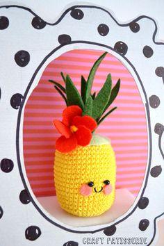 Summer 2015...win an Hibiscus ANANASSOLO! IG giveaway by CraftPatisserie Crochet amigurimi pineapple cute kawaii!