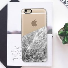 Marble - Transparent - New Standard Case  #marble #stone #pattern #transparent #semitransparent #iphone #case #smartphone #iphonecase #iphone6