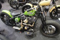 Harley bobber motorcycle