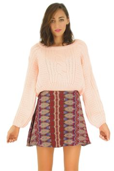 Crooked Cable Pink Jumper $49.99