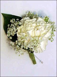 <3 carnations and baby's breath!