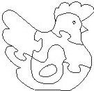 Chicken puzzle Scroll Saw Pattern