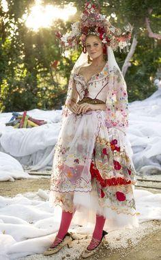 "Wedding Dress for ""meu pedacinho de chão"" - Brazilian Soap Opera. Vestido de noiva de Milita (Foto: Renato Rocha Miranda/TV Globo)"